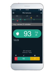 app móvil glucómetro